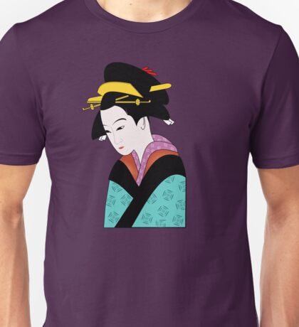 Woman in Traditional Kimono  Unisex T-Shirt