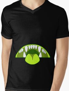 Nom Belly ~ Lime Mens V-Neck T-Shirt