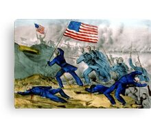 Capture of Roanoke Island - 1862 - Currier & Ives Canvas Print