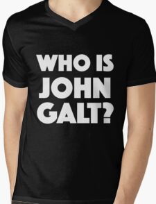 Who Is John Galt? Mens V-Neck T-Shirt