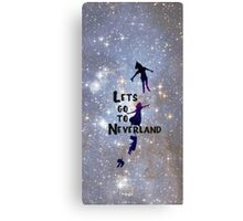 Lets Go To Neverland Canvas Print