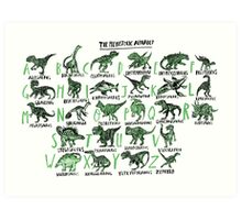 The Prehistoric Alphabet Art Print