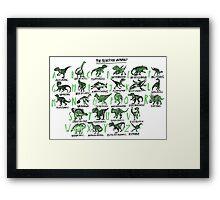 The Prehistoric Alphabet Framed Print