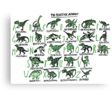 The Prehistoric Alphabet Canvas Print