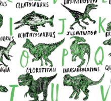 The Prehistoric Alphabet Sticker