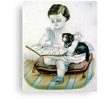Carlo's A.B.C. - 1907 - Currier & Ives Canvas Print