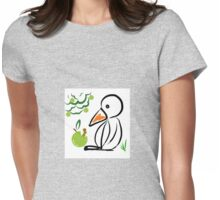 Penguin and apple Womens Fitted T-Shirt
