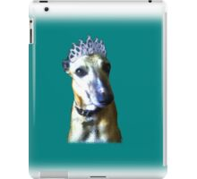 Comedy whippet in teal iPad Case/Skin