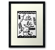 Rachel Doodle Art - Let It Rain Framed Print