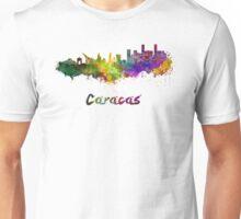 Caracas skyline in watercolor Unisex T-Shirt