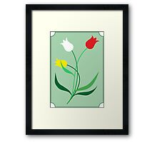 Tulips in 3 colors Framed Print