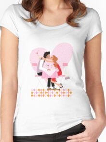 kissing couple Women's Fitted Scoop T-Shirt