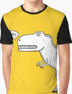 Cartoon Tyrannosaurus Rex Graphic T-Shirt