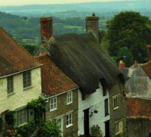 Gold Hill in Shaftesbury, England Sticker