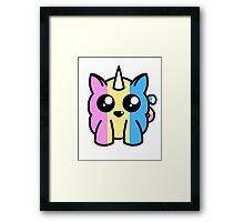 Pansexual Baby Unicorn Framed Print