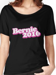 Retro Pink Bernie 2016 Women's Relaxed Fit T-Shirt