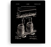 Art Of Brewing Beer Patent Canvas Print