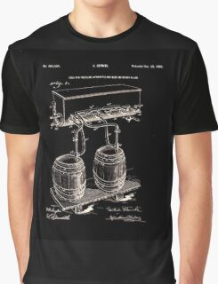 Art Of Brewing Beer Patent Graphic T-Shirt