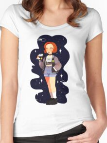 Super 90's Scully unlocked Women's Fitted Scoop T-Shirt