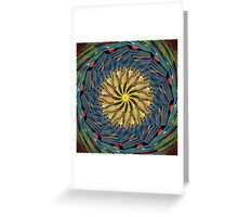 mandala circle lines Greeting Card