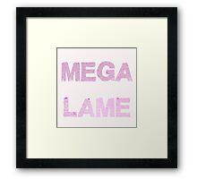 Mega Lame Teen Angst Framed Print