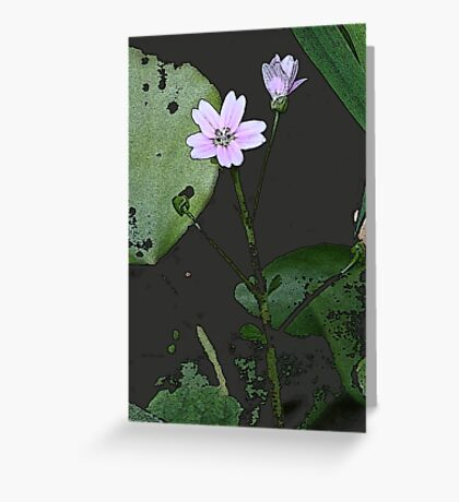 the big PINK FLOWER  Greeting Card