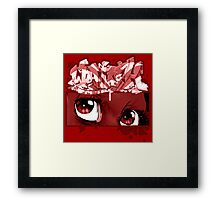 Graffiti WATCH (red) Framed Print