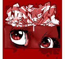 Graffiti WATCH (red) Photographic Print