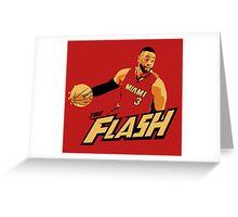 """Dwyane """"The Flash"""" Wade Greeting Card"""