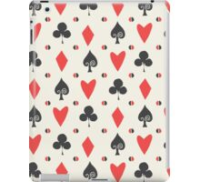 Hearts Clovers alice in wonderland fairy tale minimal kids nursery pattern pink and green iPad Case/Skin