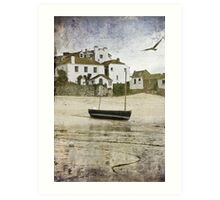 A Grey Harbour Day Art Print