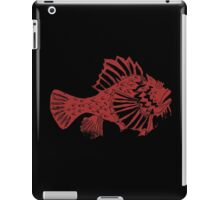 THE REDSCORPION FISH  (red on black) iPad Case/Skin