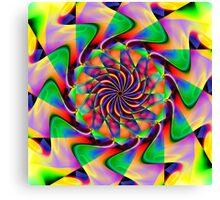 frequency mandala Canvas Print
