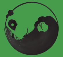 kung fu panda po yin yan logo Kids Clothes
