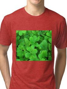Lucky Four Leaf Clover Tri-blend T-Shirt