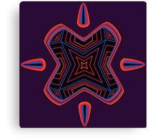 Neon Particle Canvas Print