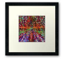 colourful peace Framed Print