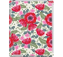 Poppy flower watercolor flowers repeating pattern feminine boho bohemian hipster anthro style fresh iPad Case/Skin