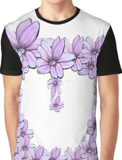 flower pink in heart Graphic T-Shirt