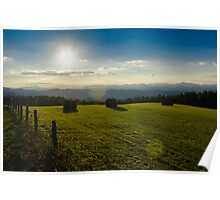 Hay Field Against the Sky Poster