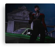 THEY OFFER YOU IMMORTALITY I OFFER THEM A PLACE IN HELL    MY NAME IS RAVEN AND I AM A VAMPIRE SLAYER Canvas Print