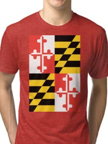 Maryland Flag Graphic Tee Tri-blend T-Shirt