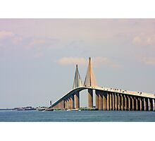 Sunshine Skyway Bridge over Tampa Bay FL Photographic Print
