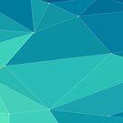 turquoise horizontal polygonal   by Alejandro Durán Fuentes