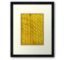 Yellow Cables Framed Print