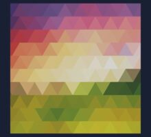 rhombic texture sunset Kids Tee