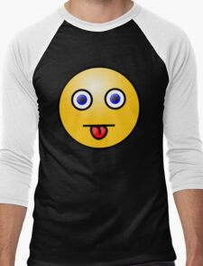 Smiley Middle Tongue Blue Eyes T-Shirt