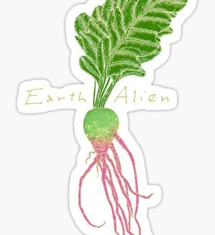 Earth Alien Watermelon Radish Sticker