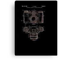 Photographic Camera Patent 1962 Canvas Print