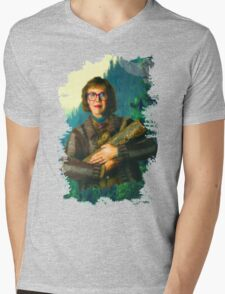 """Twin Peaks The Log Lady  """"The Log Knows"""" Mens V-Neck T-Shirt"""